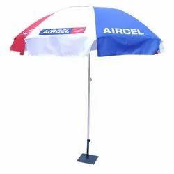 White Plastic Promotional Umbrella