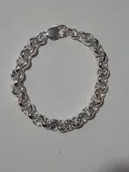 925 Casual Wear Silver Gents Italian bracelet, 30 To 100 Gms Per Piece, Size: 8.5  Standard