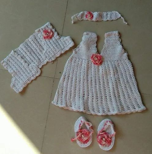 9044e525a710 Cotton Party Wear Crochet Baby Frock, Rs 1500 /number, Jyotirmay ...