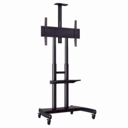 Black Ms LCD TV Table Stand, For Office