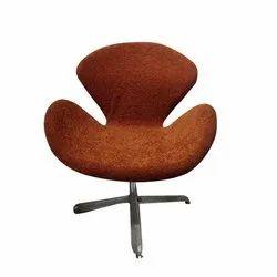 Reyo Brown Velvet Designer Chair, For Bar