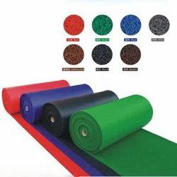 Black & Green Stripes, Floral Anti Slip PVC Coir Mat, Mat Size: 120x1200cm, 120x1800 Cm, for Entrance
