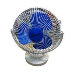Blue 3 Small Plastic Table Fan
