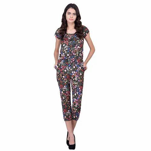699b54065dc Black Floral Jumpsuit
