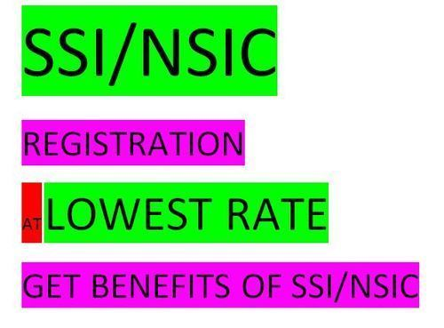 SSI/ NSIC Registration at Lowest Rate
