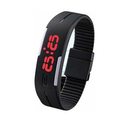 Black LED Digital Automatic Wrist Watches