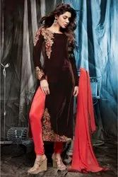 Velvet Suit With Embroidery