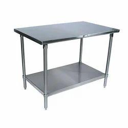Silver Rectangular Work Table