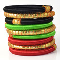 Multicolor Indian Silk Thread Bangles