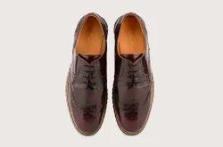 Brushed Burgundy Brogue Hybrid Footwear