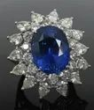 Women's Blue Sapphire Diamond Ring