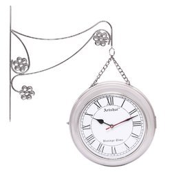 artshai antique style 2 side station clock 12 inch size