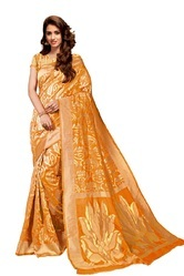 Yellow Party Wear Silk Sarees