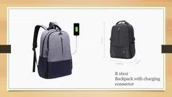 BACKPACK WITH CHARGING CONNECTOR