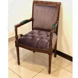 Wooden Brown Lobby Chair