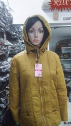 Ladies Yellow Hooded Jacket