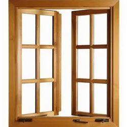 Brown Wood Designer Wooden Window