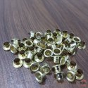 Golden Mild Steel Iron Eyelets, For Flexi-packagaing & Paper Bags, Packaging Type: Polybags Packed In Box