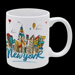 Sublimation Printed Ceramic Coffee Mug for Gifting, Capacity: 300 Ml