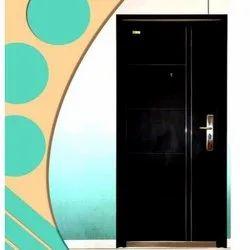 Standard BLACK Steel Security Doors PGS-4, Thickness: 70MM, Material Grade: Zink Alloy Dkp Sheet