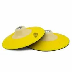 Yellow Moulded Plastic Backing Plate Flex Edge For Car Detailing, Round, 2 Pieces