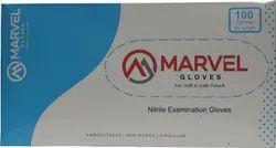 Marvel EN 455 Nitrile Examination Gloves Non Sterile Medium