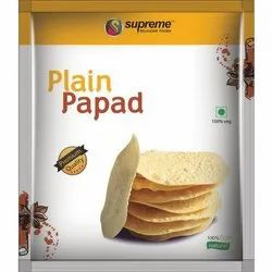 Rpund Udad Plain Papad, Size: 140mm
