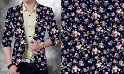 Men Floral Print Blazer
