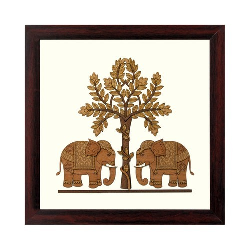 Wooden Elephant Painting Pictures Frame at Rs 2000 /piece | Fort ...