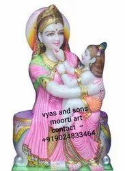 Marble Krishna Yashoda Statue