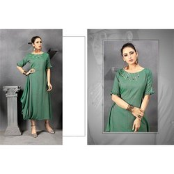 Designer Ladies Rayon Two Tone Kurti
