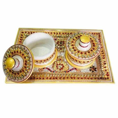 Marble Decorative Tray set