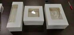 White Plain Cake And Cookies Box