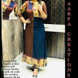 Aarfa 1786 Rayon A Line Kurti