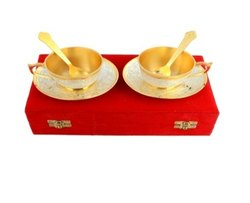 Two Tone Cup & Saucer 2 Pcs Set