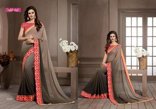 3dc62e8bd35 Silk Party Wear Varsiddhi Mintorsi Designer Multicolor Georgette Saree