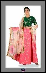 Bollywood Style Designer Pure silk Lehenga