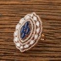 Copper Alloy Rose Gold Plated Cz Delicate Ring 401204