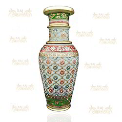 Red And Green Marble Vases