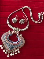 Meenakari Fashion Heavy Pendent Necklace Set