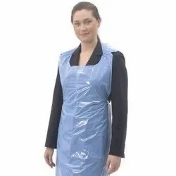Blue PE Disposable Apron, For Safety & Protection, Size: Free Size
