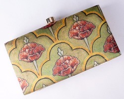Ikat Printed Clutch