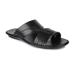 43cd7495225 Mens Leather And PU Black Slipper
