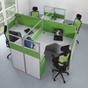 4 Seater Wooden Office Workstation