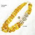 CL code Tourmaline Kundan Multilayer Statement Traditional wedding Fashion Jewellery Necklace