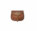 Round Shape Handmade Genuine Leather Handbag