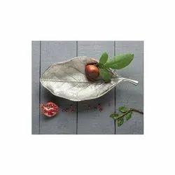 Mini Leaf Aluminum Decorative Platter