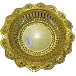 Designer Round Golden Basket