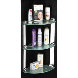 Triple Glass Shelf Corner