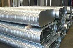 Oval Stainless Steel Spiral Elliptical Duct, For Office Use, Size: 550 Minimum